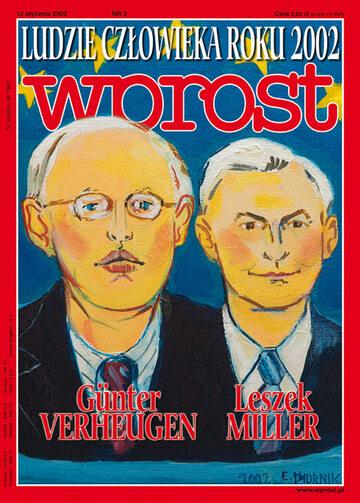 Okładka tygodnika Wprost nr 2/2003 (1050)