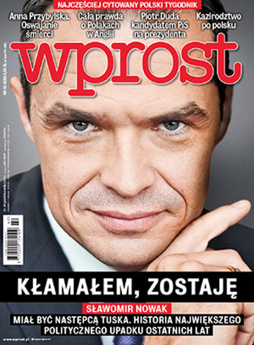 Okładka tygodnika Wprost nr 42/2014 (1650)