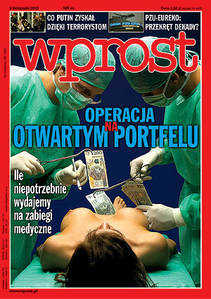 Okładka tygodnika Wprost nr 44/2002 (1040)
