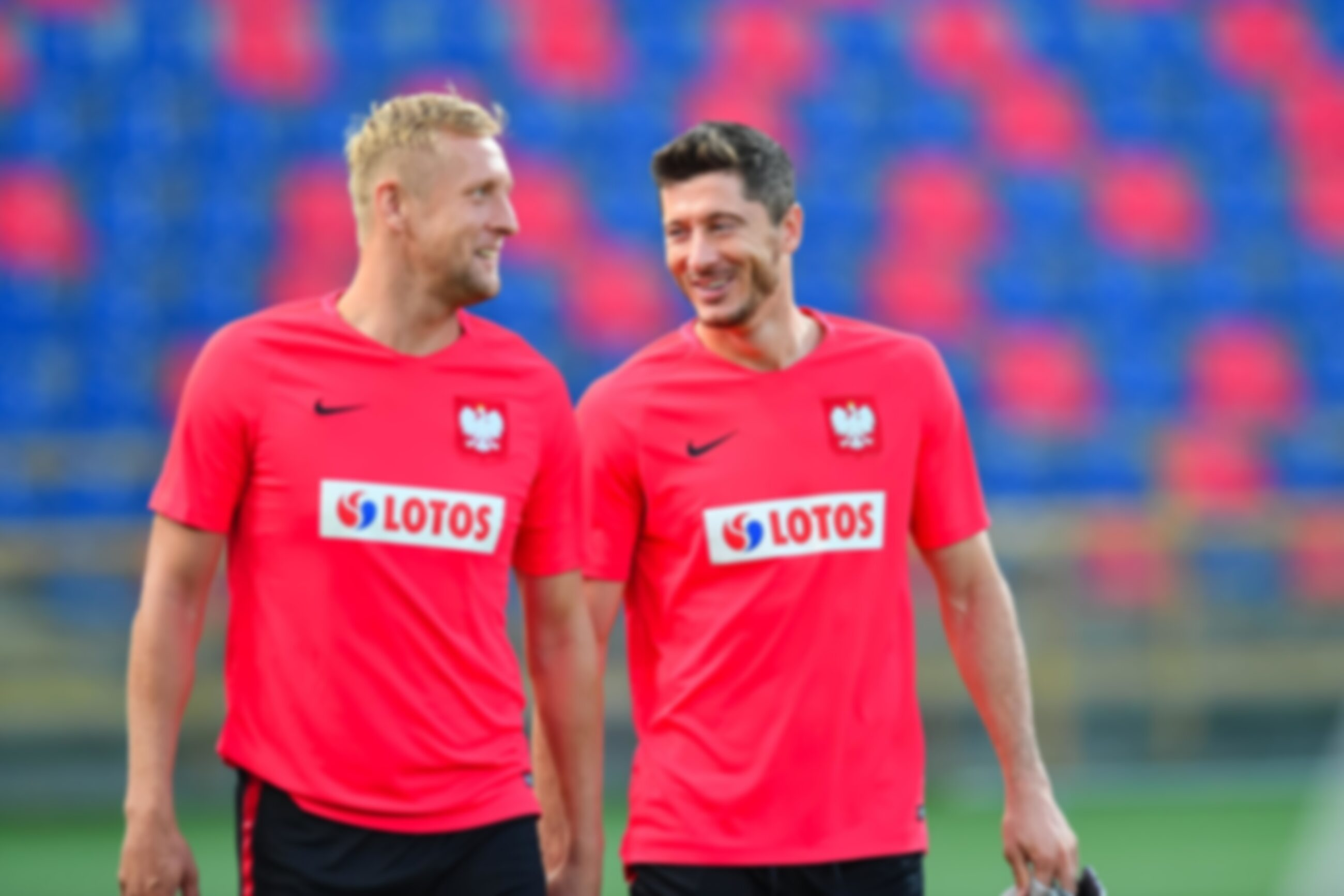 Kamil Glik i Robert Lewandowski