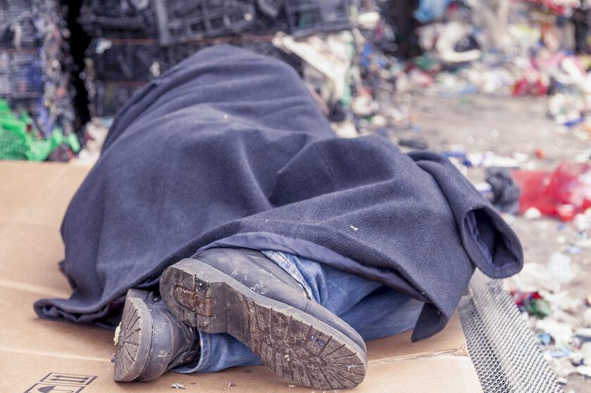 Bezdomny, zdjęcie ilustracyjne