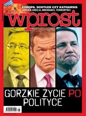 Okładka tygodnika Wprost nr 28/2015 (1687)