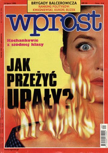 Okładka tygodnika Wprost nr 29/1999 (868)