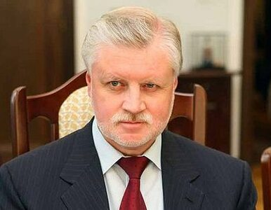 Siergiej Mironow powalczy z Putinem o fotel prezydenta