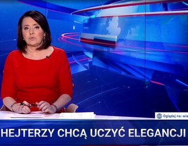 """""""Hejterzy chcą uczyć elegancji"""". """"Wiadomości"""" TVP o geście Lichockiej"""
