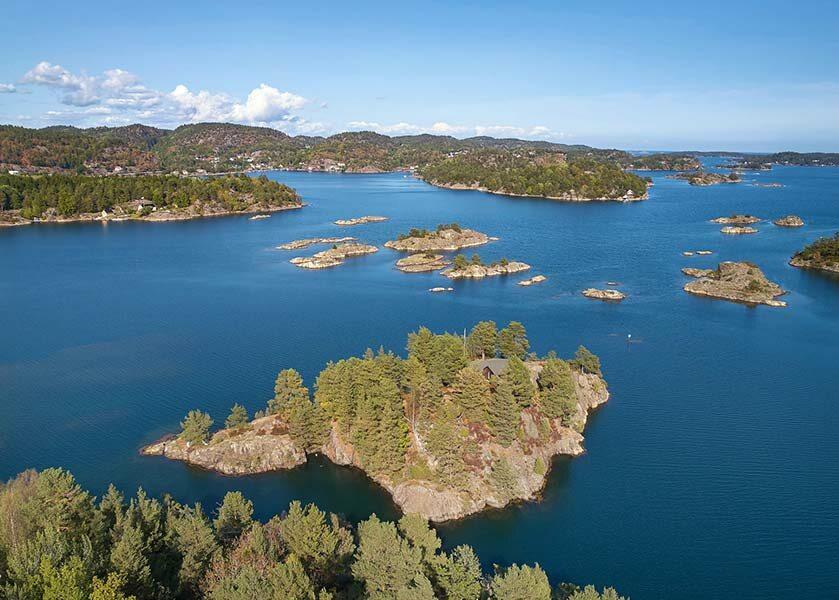 Wyspa Tjaereholmen Wyspa Tjaereholmen wystawiona na sprzedaż