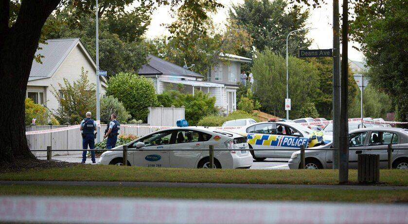 Christchurch. Okolice miejsca, w którym doszło do zamachu