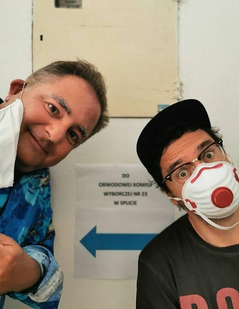 Kuba Wojewódzki i Robert Makłowicz głosowali w konsulacie w Splicie w Chorwacji