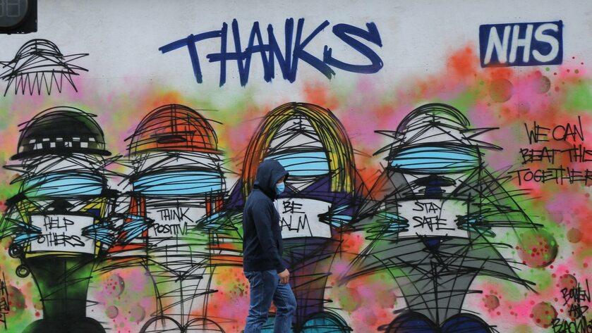 Mural z podziękowaniami dla NHS