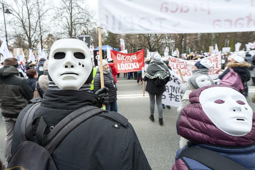 Protest pracowników sądów, Warszawa