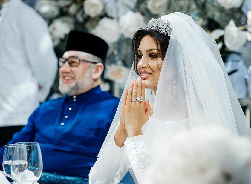 Była Miss Moskwy i były król Malezji wzięli ślub