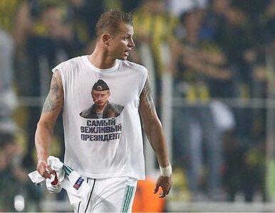 W meczu przeciwko Turkom odsłonił koszulkę z Putinem