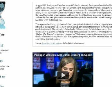 """Irackie Ministerstwo: w dokumentach WikiLeaks """"nie ma niespodzianek"""""""