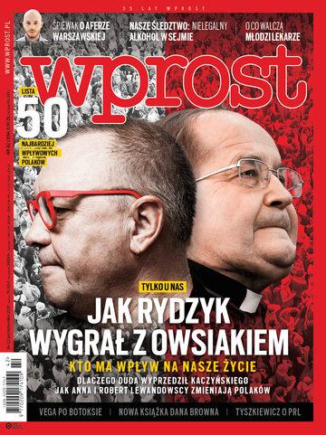 Okładka tygodnika Wprost nr 42/2017 (1807)