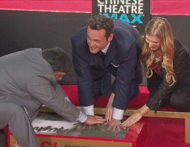 Vince Vaughn uwieczniony w Alei Sław w Hollywood