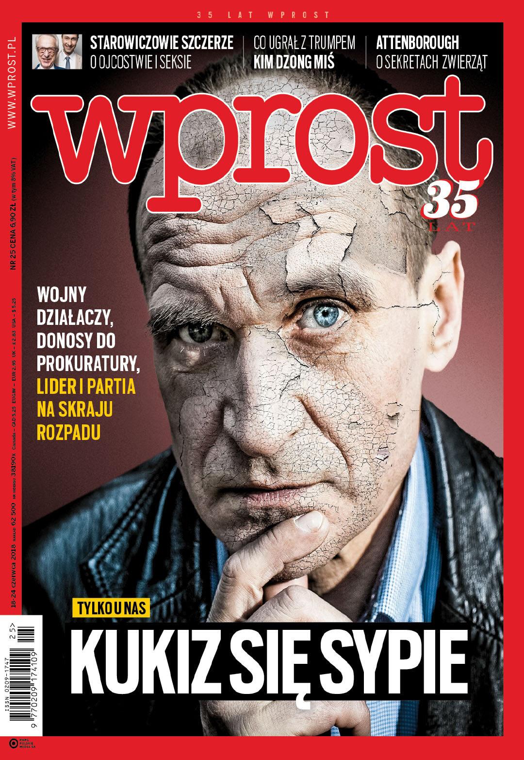Okładka tygodnika Wprost nr 25/2018 (1840)