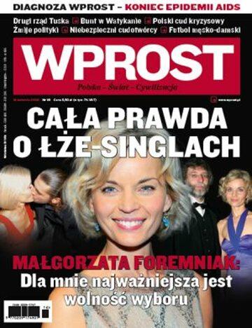 Okładka tygodnika Wprost nr 16/2009 (1371)