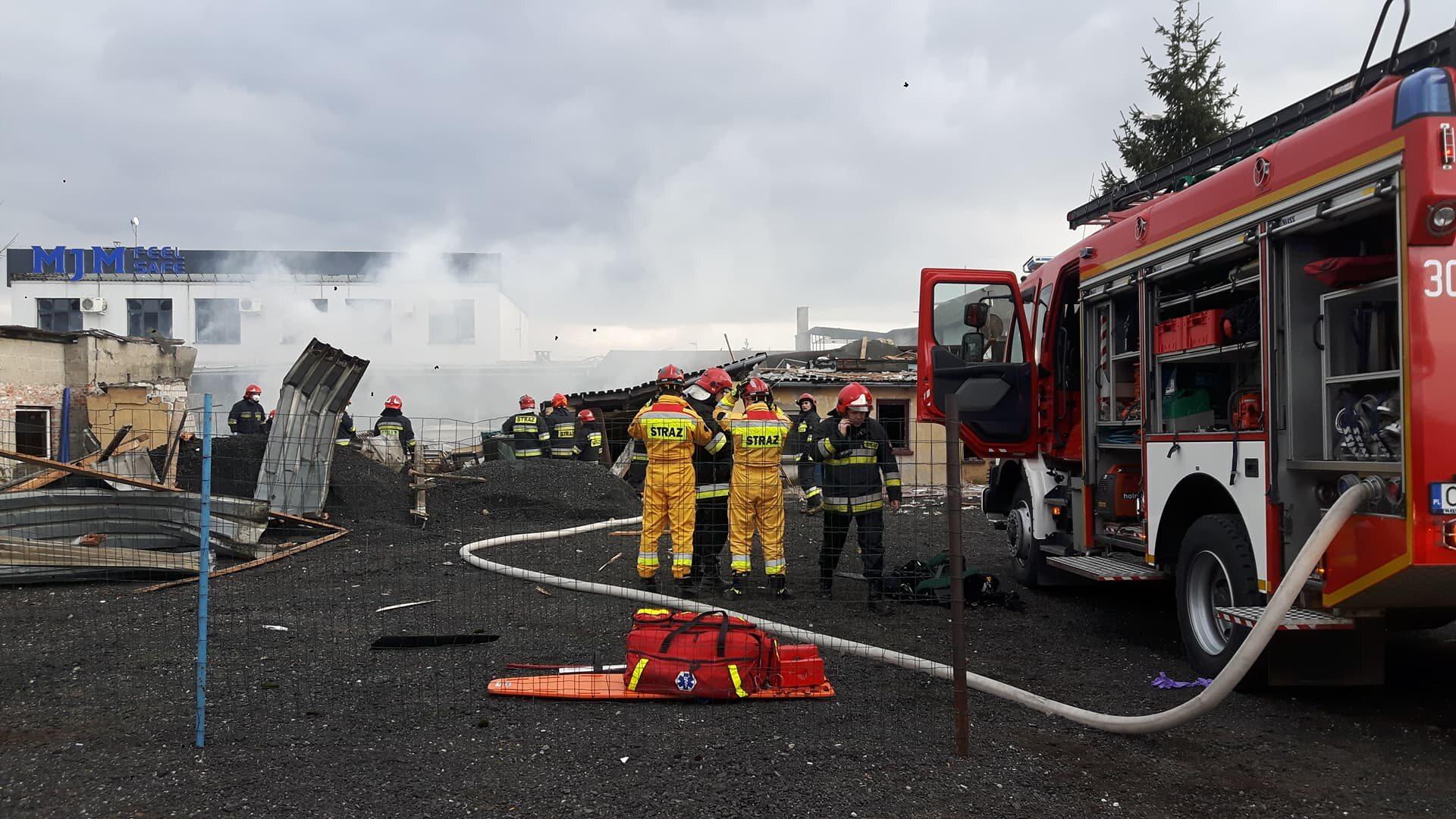 Akcja straży pożarnej i grupy poszukiwawczej