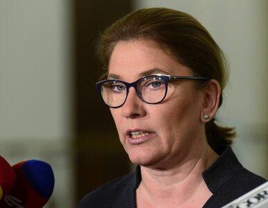 Beata Mazurek dementuje informacje o tajnej naradzie w siedzibie PiS....