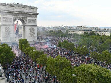 Dantejskie sceny we Francji po finale MŚ. Wandale splądrowali sklep,...