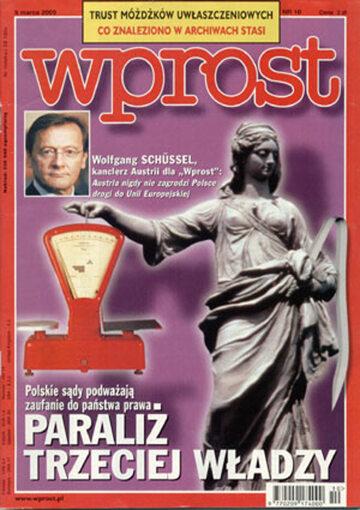 Okładka tygodnika Wprost nr 10/2000 (901)