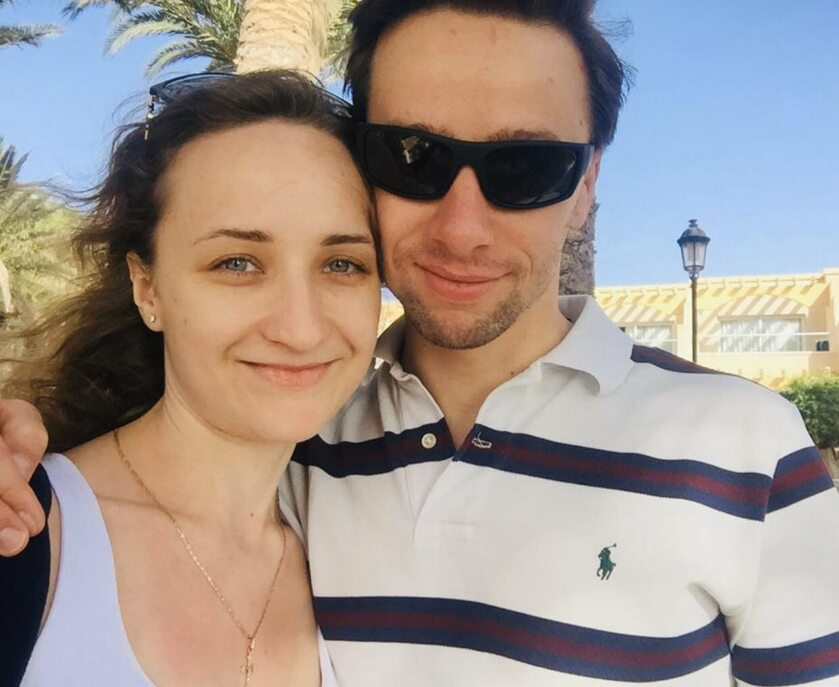 Krzysztof Bosak z żoną w czasie podróży poślubnej