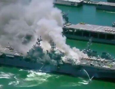 Eksplozja na amerykańskim okręcie. Jest wielu rannych
