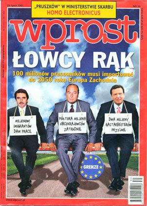 Okładka tygodnika Wprost nr 30/2001 (974)