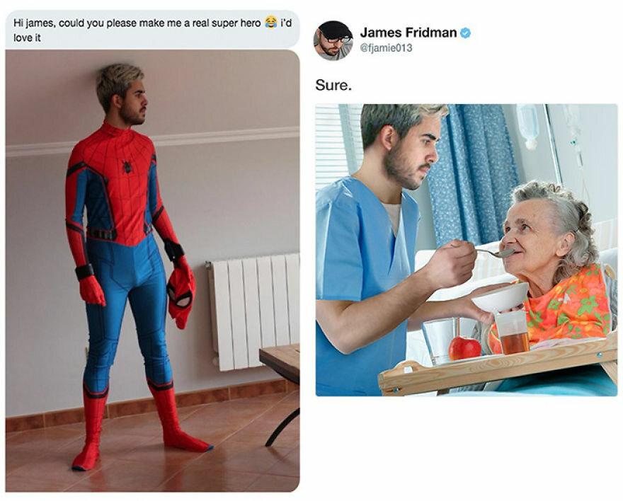 Chciał wyglądać jak prawdziwy superbohater