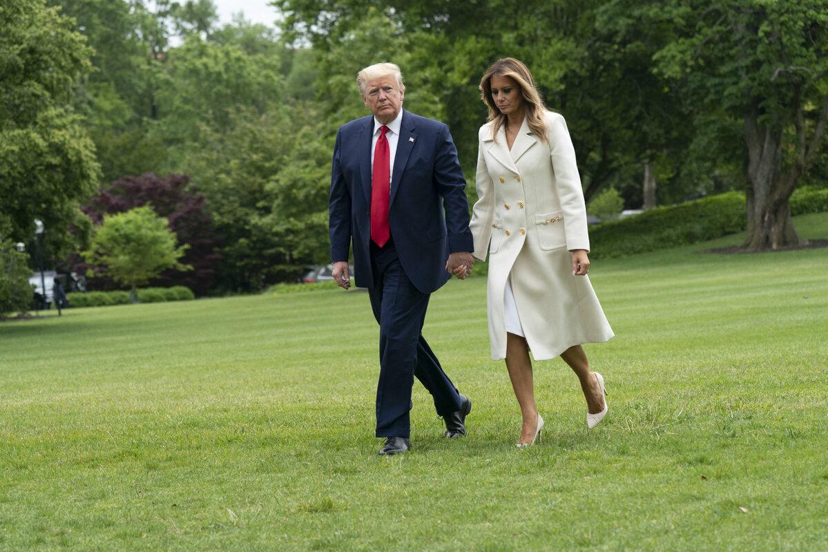 Donald Trump z żoną Melanią