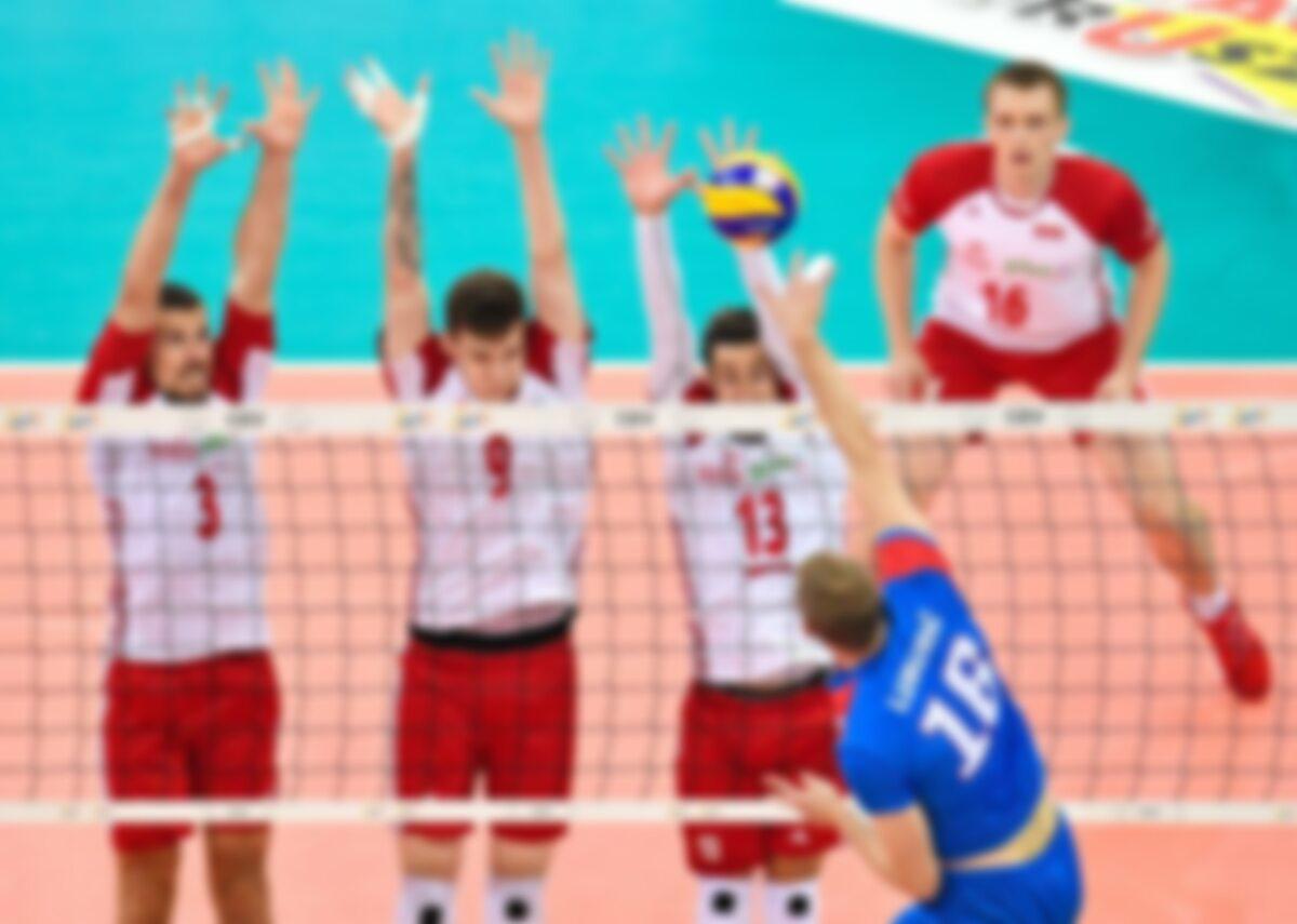 Kadr z meczu Polska - Serbia