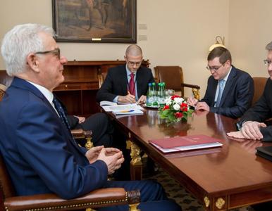 """Szef MSZ spotkał się z ambasadorem Rosji. """"Oczekujemy zwrotu wraku..."""