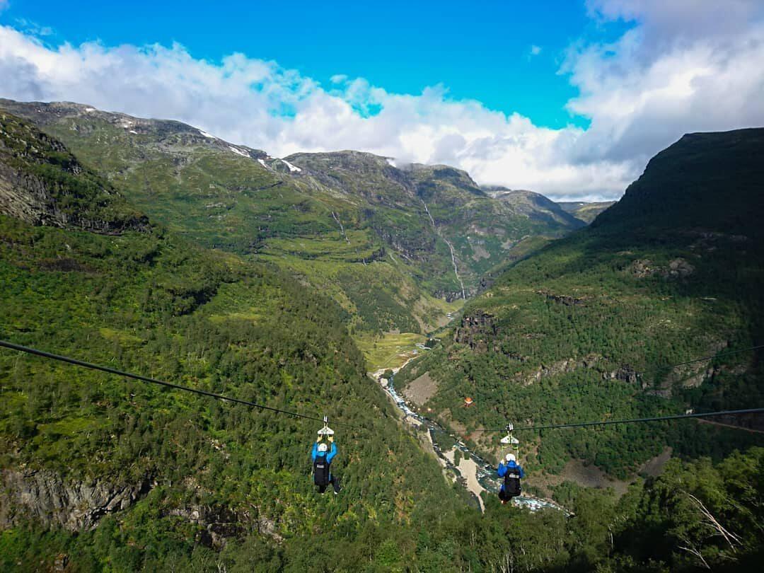 Kolejka tyrolska z Vatnahalsen do Kårdalen