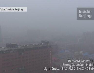 Pekin ponownie utonął w smogu. Odwołano ponad 200 lotów
