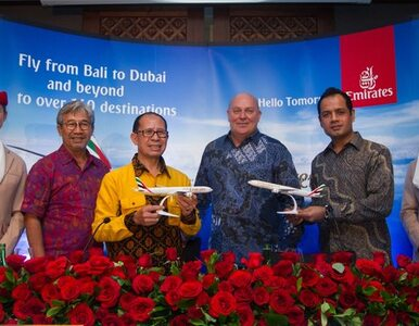 Emirates ląduje na Bali