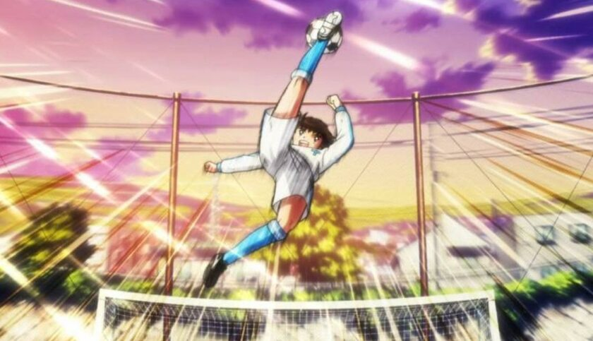 "Kadr z serialu ""Captain Tsubasa"""