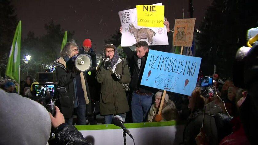 Protest pod Sejmem