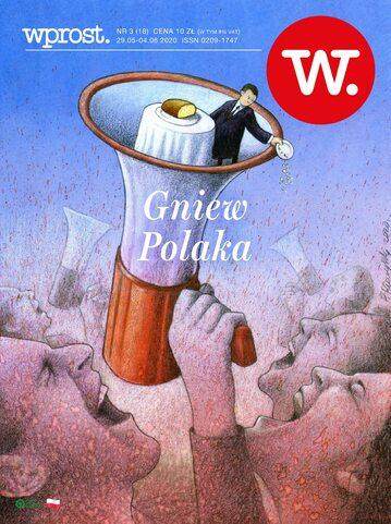 Okładka tygodnika Wprost nr 18/2020 (1934)