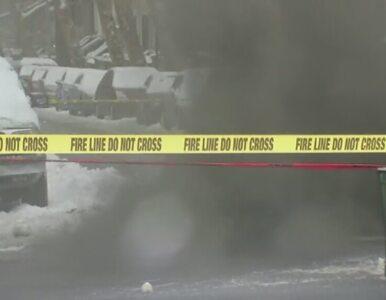 Eksplozja studzienki. Spadająca klapa przygniotła mężczyznę